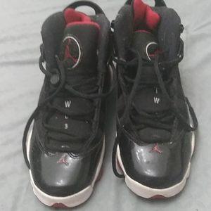 Red an black jordan